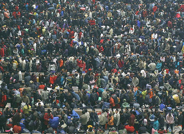 Chine-gare-foule